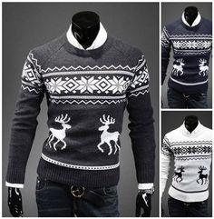Reindeer Model Sweater
