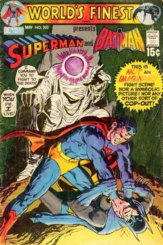 World's Finest #202, May, 1971. This was one of my favorite DC Comics as a kid and I still have it but mine is a coverless copy. Remember those multi-packs of comics with either no covers or half covers?