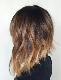 Brown ombre hair color looks super feminine and sexy. Check out trendy color ideas. - Brown ombre hair color looks super feminine and sexy. Check out trendy color ideas. Brown ombre hair color looks super feminine and sexy. Check out trendy color ideas. Brown Ombre Hair, Ombre Hair Color, Hair Color Balayage, Hair Colour, Short Balayage, Balayage Lob, Ombre Medium Hair, Ombre Hair Bob, Bronde Lob
