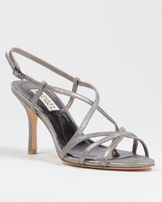 aa618f8ea2c Ava-II Strappy Metallic Evening Sandal SALE  169.00 Ava-II by Badgley  Mischka.