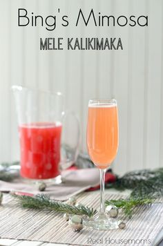 Bing's Mimosa Real Housemoms #25daysofchristmas