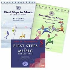 FIRST STEPS IN MUSIC Curriculums & Lectures DVDs - This set includes:  First Steps In Music for Infants & Toddlers: The Curriculum. 200 pp. Spiral Paperback Frist Steps In Music for Preschool and Beyond: The Curriculum. 272 pp. Spiral Paperback First Steps In Music: The Lectures DVDs Dr. John Feierabend--dynamic musician, teacher, author, composer--offers a lifetime of ideas and inspiration on helping children become tuneful, beautiful, and artful in these 5 DVDs.