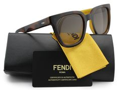 FENDI FF0121/S Color Flash Sunglasses Havana w/Brown Gradient (0MFR) 0121 MFR HA 51mm Authentic. Model: FENDI FF0121/S Color Flash. Color Code: (0MFR) Havana w/Brown Gradient Lens. Gender: Women. Size: 51-21-140. Made: Italy.