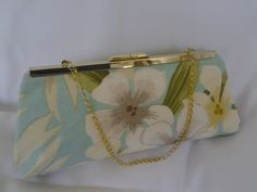 Aqua Turquoise Hawaiian clutch purse turquoise Beach Wedding clutch purse Aqua Beach Wedding clutch purse floral clutch BBsCustomClutches by BBsCustomClutches on Etsy