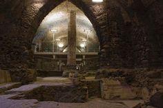 """Emeroteca con Domus romana"", The Benedictine Monastery of San Nicolò l'Arena in Catania, UNESCO World Heritage Site (as a part of Val di Noto World Heritage Site), Sicily, Italy #catania #sicily #sicilia"