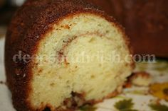 Sour Cream Coffee Cake, known as Sock it To Me Cake, made with a cake mix, brown sugar, pecans and cinnamon, but, unlike most coffee cakes, it actually gets better as it sits - not that itll be around that long.