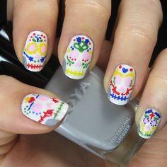 dia de los muertos, nail style
