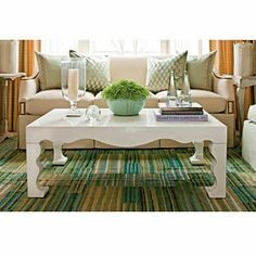 Find Your Coffee Table Style | White Laquer | SouthernLiving.com Now I know what to put on my new table!!