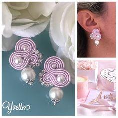 Soutache Pendant, Soutache Earrings, Shibori, Soutache Tutorial, African Jewelry, Diy Jewelry, Couture, Pendants, Embroidery