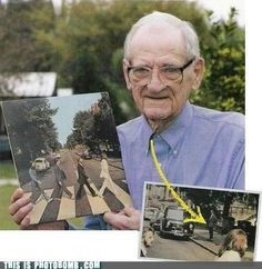 This is awesome!!! He is the guy in the background of the photo! Coolest Photo Bomb ever!