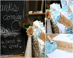 52 Mantels: A Peacock-Feathered Bridal Shower!
