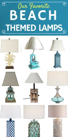 Check out our favorite beach themed lamps at Beachfront Decor!  We have a variety of coastal lamps that include lanterns, seashells, starfish, anchors, mosaic tiles, coral, rope, and more.