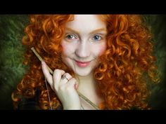 Real Life Disney: Merida (great way to change color of eyebrows)