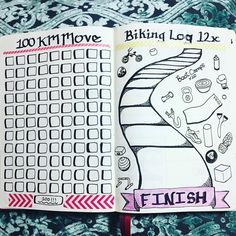 I made several fitness spreads for my 2017 Bullet Journal. Left page is 100km walk/run tracker (doesn't include hikes) and the right page I'll fill in a sidewalk step for every bike ride I do. I also found a Groupon for 20 boot camp classes for only 20 bucks!!! I decided to add 20 random workout items to this page, which I'll colour in after each class. Wish me luck, I've never done boot camps before.
