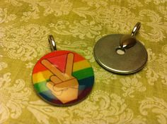 LGBT Equality Washer Pendant by #HemptressDesigns on Etsy, $5.00 #rainbow #LGBT #equality #peace