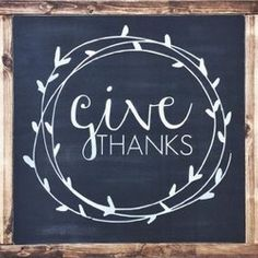 welcome fall the season of thankfulness with this gorgeous give thanks sign for your home it also makes a fabulous gift - Diy Framed Chalkboard