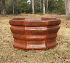 """Lightweight Octagon Pottery 40""""W x 25""""H 16 lbs. Item # 2040 Custom Colors Available Shown in Antique Terracotta"""