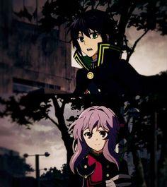 Owari no Seraph Anime Couples Manga, Cute Anime Couples, Mahiru Hiragi, Shinoa Hiiragi, Onii San, Black Clover Manga, Mikaela Hyakuya, Dark Thoughts, Seraph Of The End