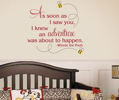 Winnie the Pooh Wall Decal  As soon as I saw by TweetHeartWallArt, $32.00