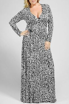 This long sleeve wrap dress will fast become one of your favorite wardrobe pieces. Not only is it comfortable and elegant, but it is warm enough to wear out on those chilly winter evenings! Rachel Pally, Caftan Dress, Plus Size Designers, The Chic, Plus Size Fashion, Wrap Dress, Glamour, Elegant, My Style