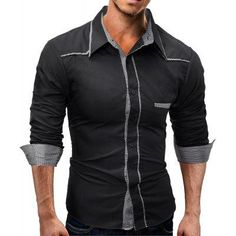 #AdoreWe #GearBest - #Gearbest Fashion Lapel Lounge Casual Men Long Sleeved Shirt - AdoreWe.com