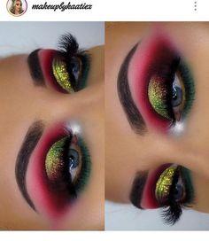 Dark Eye Makeup, Dramatic Eye Makeup, Glitter Eye Makeup, Makeup Eye Looks, Beautiful Eye Makeup, Colorful Eye Makeup, Eye Makeup Art, Smokey Eye Makeup, Skin Makeup