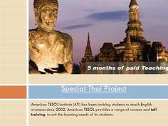 TEFL Courses Thailand by Specialthai via authorSTREAM