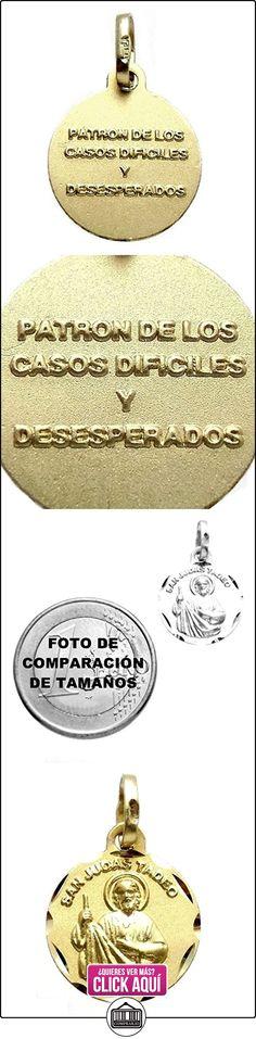 Medalla oro 18k San Judas Tadeo 14mm. inscripción [7204]  ✿ Joyas para mujer - Las mejores ofertas ✿ ▬► Ver oferta: https://comprar.io/goto/B00L6G7IJ8