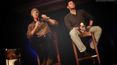 J2 - jared trying to use Jensen as a foot rest.