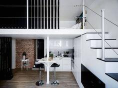My ideal home — black and white   (via Stadshem - photo credits:...