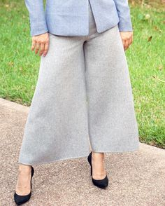 Fall is in the air and to stay cozy try these wool culottes; they're serving doubles;duty by staying trendy and toasty! #culottes #fall #warm #weather . . . . . . . #skirttheceiling #stc #fashion #ootd #dress #beautiful #fun #wib #women #girlpower #business #liketoknowit #liketkit #instafashion #motivation #skirt #styleblog #blog #blogger #confident #pin #girlboss #style #instyle #fblogger #office