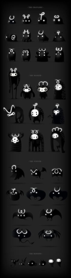 Graphic Design and Illustration for Darklings / iOS game. Character Design References, Game Character, Character Concept, Concept Art, Character Ideas, Illustration Arte, Character Illustration, Monster Design, Cute Monsters