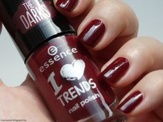 Maria's nail: 407. Essence I love Trends The darks - 15 Red I am & 16 Well Plum!