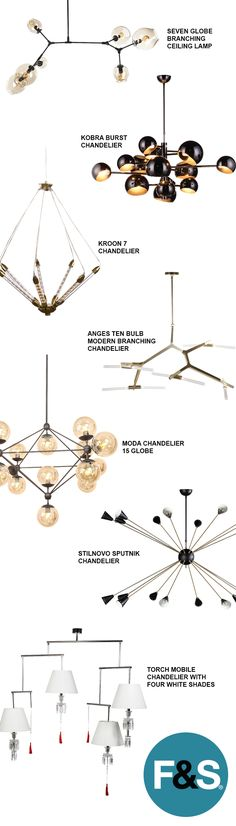 Modern and Mid-Century Modern Chandeliers and Ceiling Lamps at France & Son