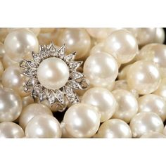 Opera Length Pearl Necklace with Diamond Clasp Sold $1,400.