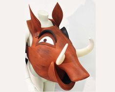 Pumba Pumbaa Lion King costume mask head, Kids + Adult sizes HEAD ONLY, Ready to Ship, Warthog hippo theatre hat Handmade Tentacle Studio
