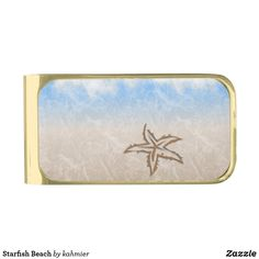Starfish Beach Gold Finish Money Clip