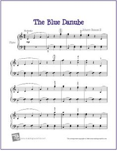 57 best piano sheet music images on pinterest music ed piano the blue danube strauss sheet music for easy piano http fandeluxe Images