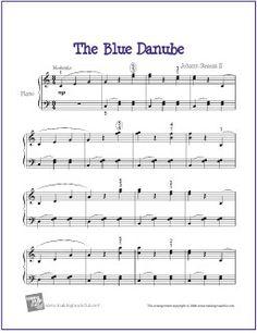 The Blue Danube (Strauss) | Sheet Music for Easy Piano - http://makingmusicfun.net/htm/f_printit_free_printable_sheet_music/blue-danube-piano.htm