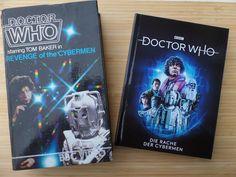 """With much love to long ago <3 <3 ... einmal das allererste kommerzielle Doctor Who Release auf VHS von 1983 - und das heute erschienene Pandastorm Pictures Mediabook """"Die Rache der Cybermen"""" #DoctorWho #Revenge #Mediabook #Bluray #vierterDoktor #Cybermen #DieRacheDerCybermen #RevengeOfTheCybermen Doctor Who, Revenge, Bbc, Books, Libros, Book, Book Illustrations, Libri"""