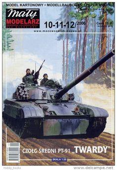 Polish Main Battle Tank PT-91 TWARDY / HARD - Paper Model in Scale 1:25  - Maly Modelarz