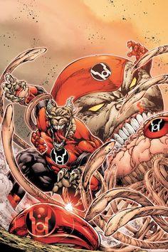 Ed Benes - Red Lanterns Red Lantern Ring, Red Lantern Corps, Green Lantern Movie, Supergirl, Comic Book Wallpaper, Dc World, Hulk Comic, Comic Art Community, Red Team