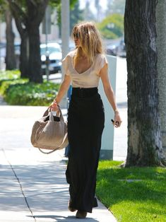 black and tan... maxi skirt