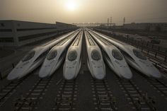 Chinese high-speed train. CRH 380 model at the CSR Qingdao Sifang train factory. Photograph by Michael Yamashita, National Geographic.