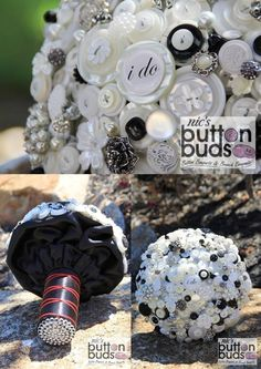 #black and #white are always a #popular choice when it comes to #buttonbouquets! I am personally in #love with the #colors! What are your thoughts?  #alternativebouquet #stunning #buttons #sparkles #alternative #wedding #bride #instaweddings #handmade #love #weddingparty #celebration  #bridesmaids #happines #ceremony #romance #marriage #weddingday #buttonbouquet #fashion #flowers #australia  www.nicsbuttonbuds.com.au www.facebook.com/nicsbuttonbuds www.pinterest.com/nicsbuttonbuds…