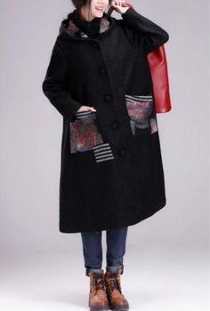 QI3-Women-Long-Hooded-Woolen-Jackets-Outwear-Casual-Loose-Fit-Button-Down-Gray