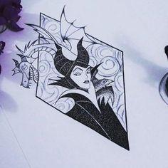 65 Ideas For Tattoo Disney Villains Maleficent Maleficent Tattoo, Disney Maleficent, Maleficent Drawing, Trendy Tattoos, New Tattoos, Cool Tattoos, Tatoos, Disney Villains Art, Disney Art