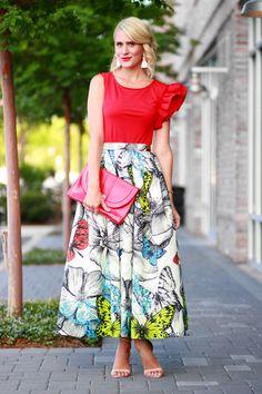 Belle de Couture: Butterfly Maxi Skirt