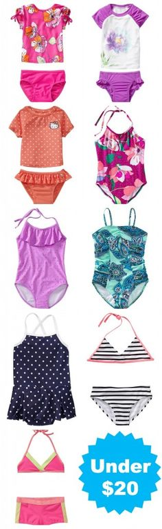 Bathing suits for girls -- under twenty bucks!! Ryan has expressed that he doesn't want our future girls to wear bikinis.