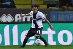 Jacopo Dezi of Parma Calcio in action during the serie B match between Parma Calcio and US Citta di Palermo at Stadio Ennio Tardini on April 2 2018...